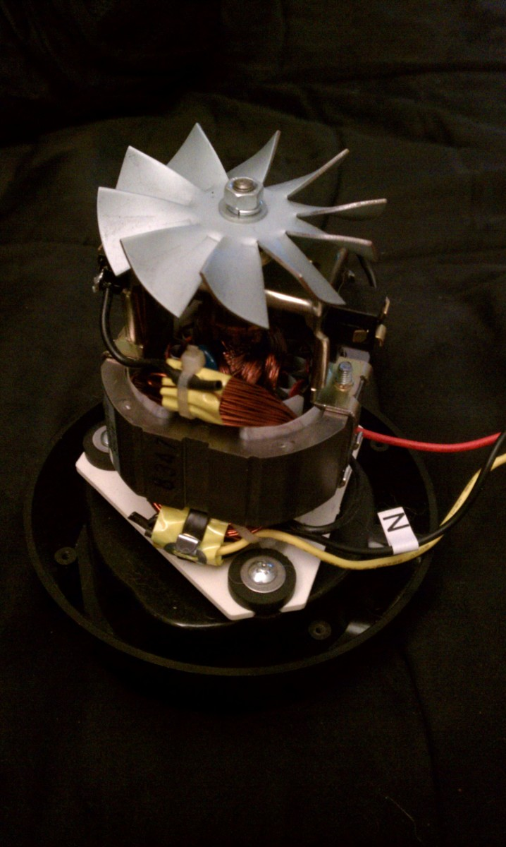 This is the motor out of a blender that I am making into a Wind Generator