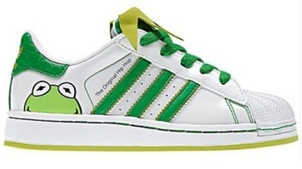 Kermit The Frog Adidas Shoes For Children