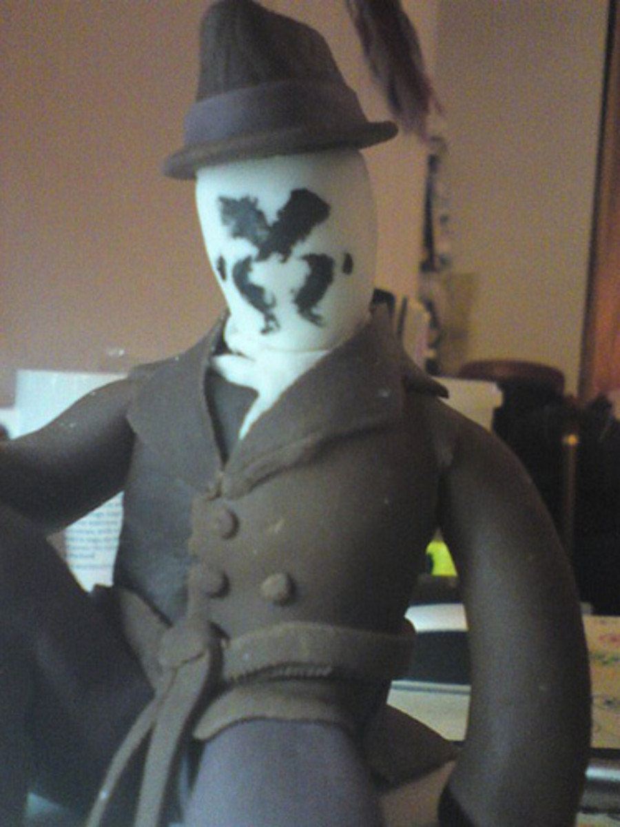 If you're a fan of Watchmen, you may recognize this character, Rorschach.