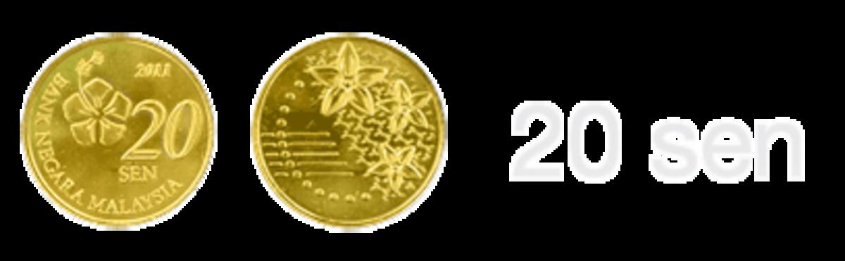 Malaysia New Commemorative Coins : The new 20 sen coin