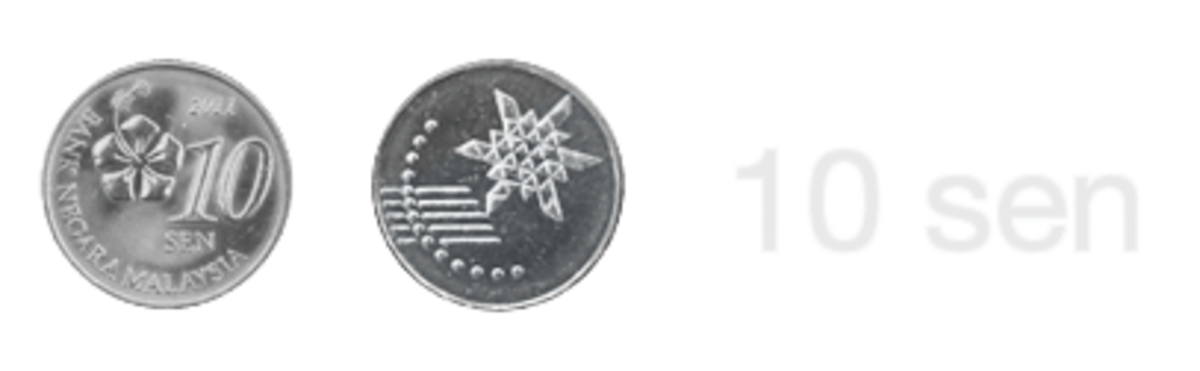 The new Malaysian 10 sen coin