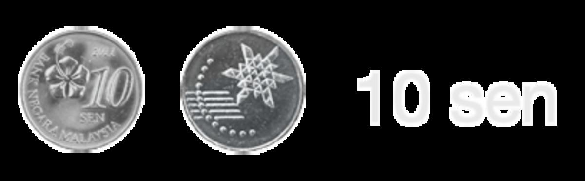 The new Malaysian 10 sen coin