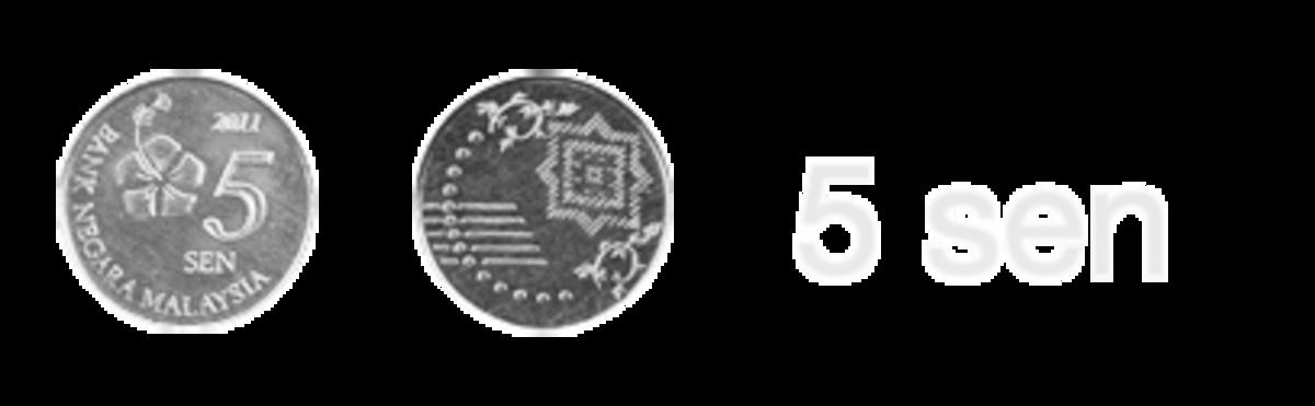 Malaysia New Commemorative Coins : The new 5 sen coin