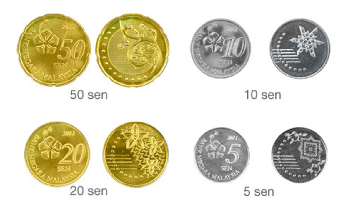 The new Malaysian Commemoration coins 2012.