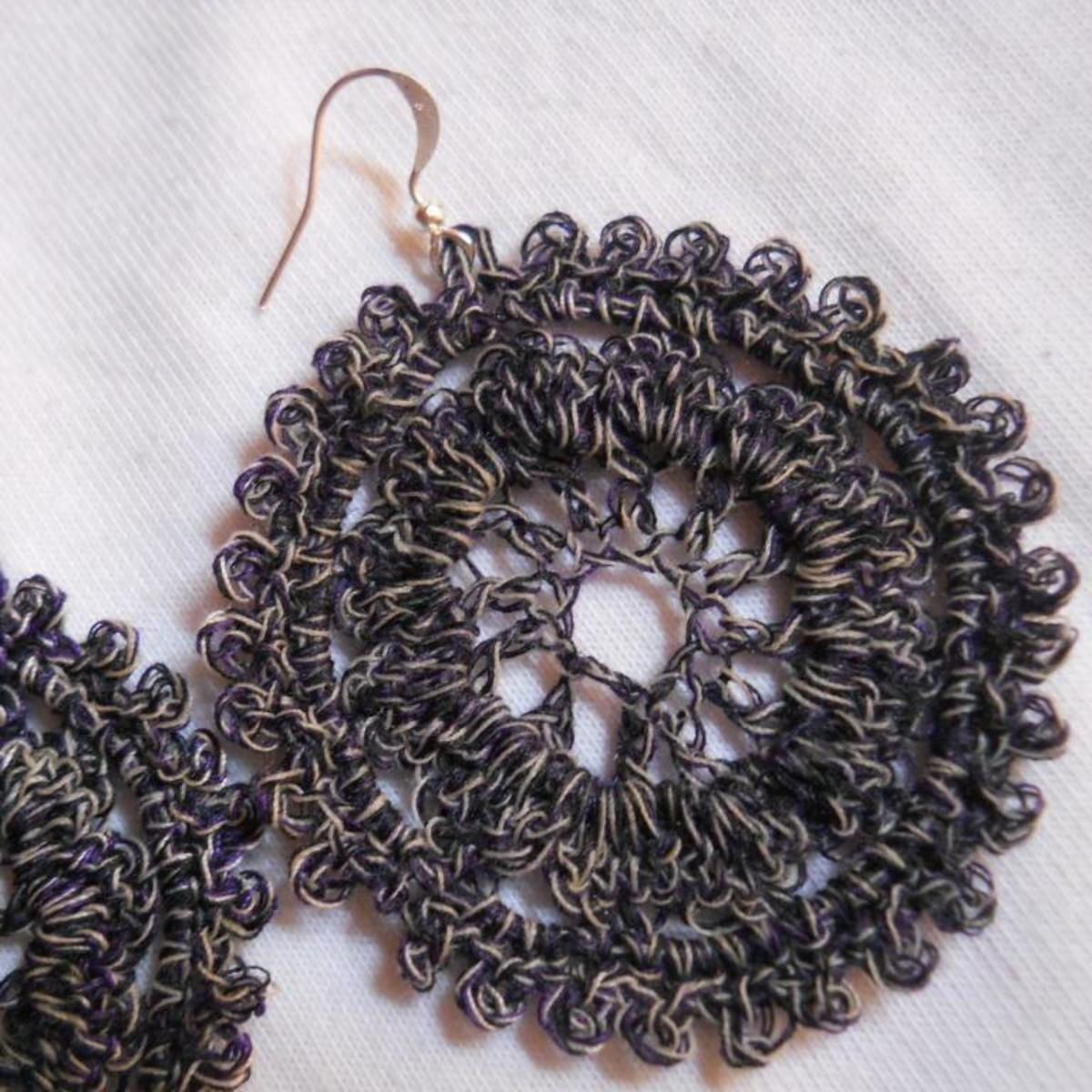 Circle Crochet Earrings #2