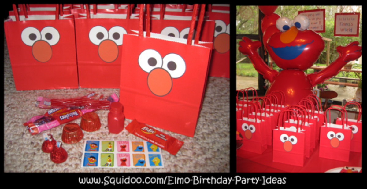 elmo party favor bags