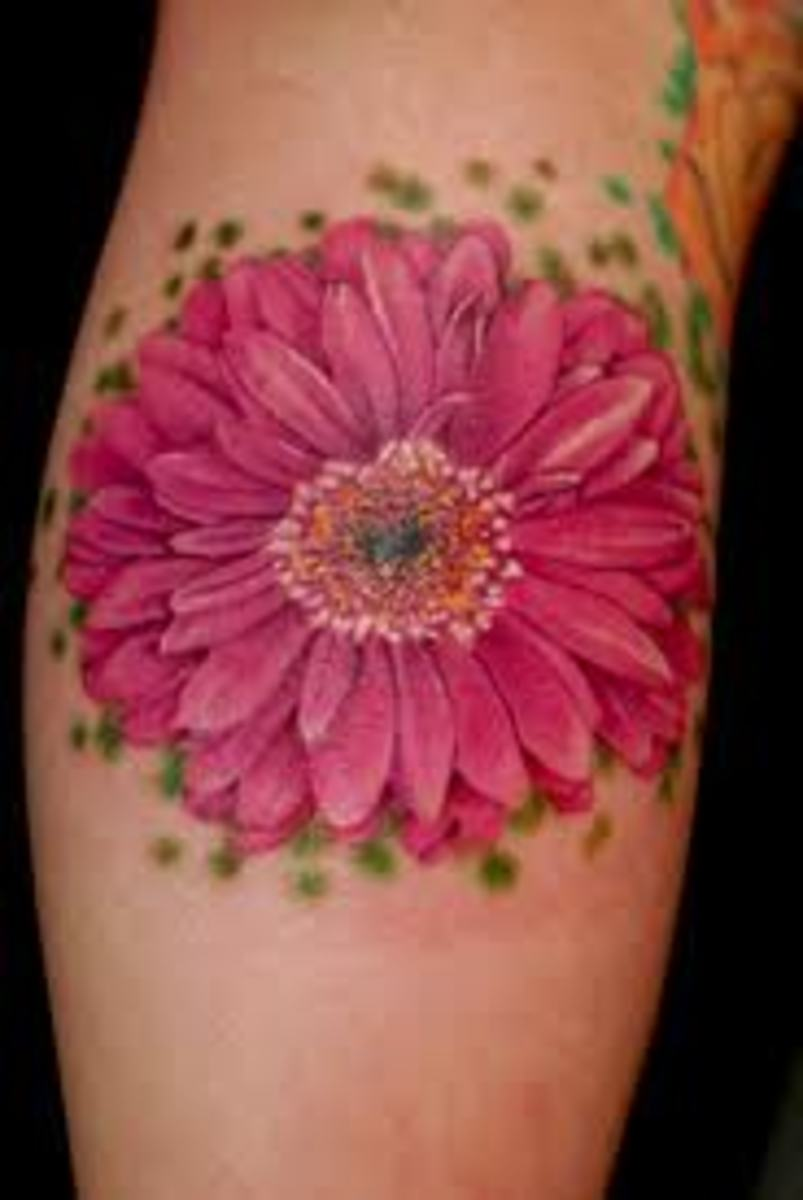 Daisy Tattoo Designs And Daisy Tattoo Meanings-Daisy Tattoo Ideas And Tattoo Pictures