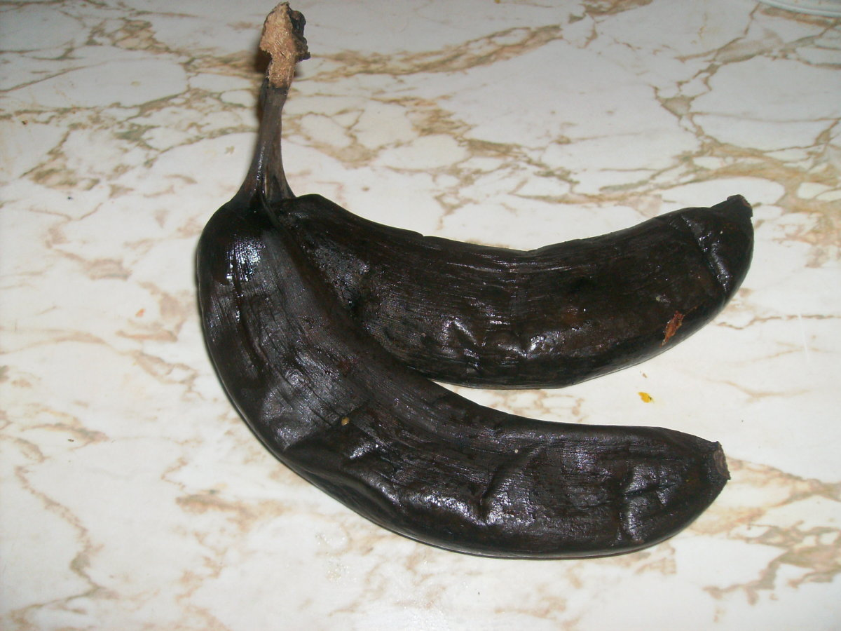Really ripe bananas. These are the ones I pulled out of my freezer.
