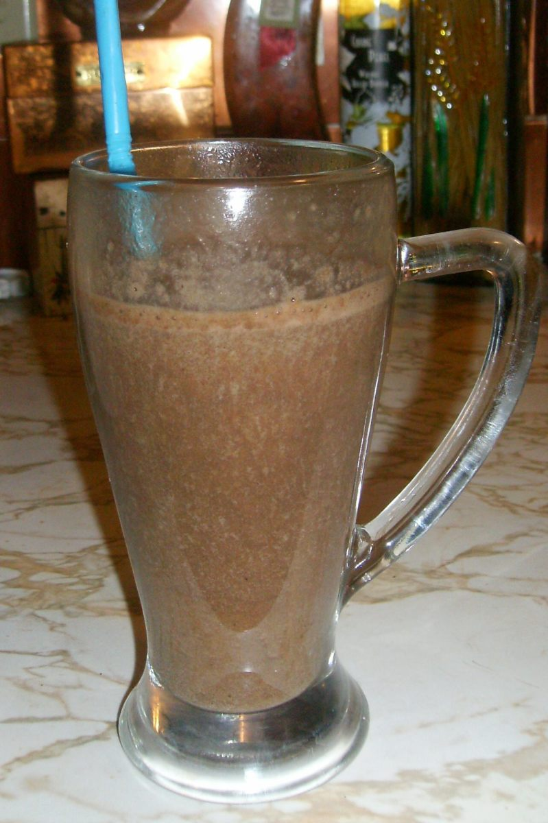 Great flavor with the chocolate, and I've got to believe it's a healthy milkshake with the banana, right?