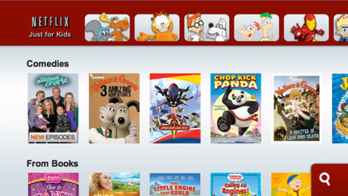 Netflix offers its own kid's page