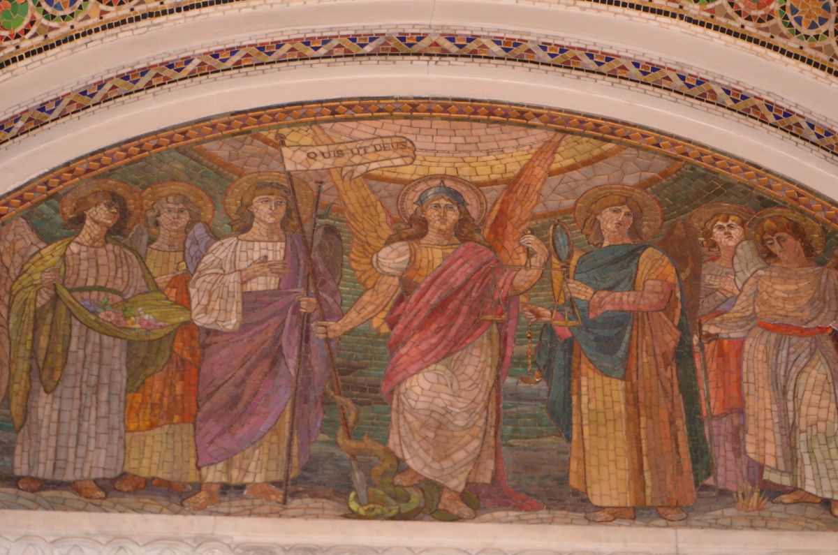 Notice the more subdued colors in this beautiful Italian Mosaic art piece.
