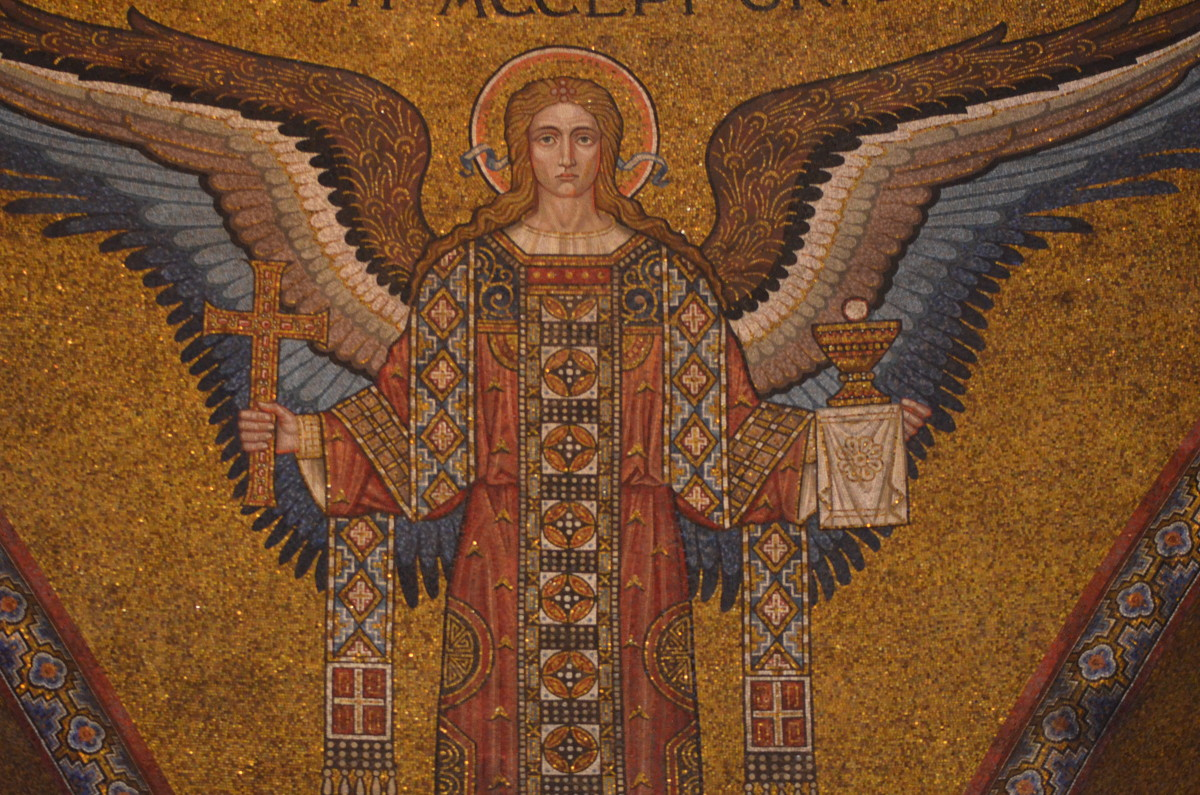 A beautiful mosaic angel.