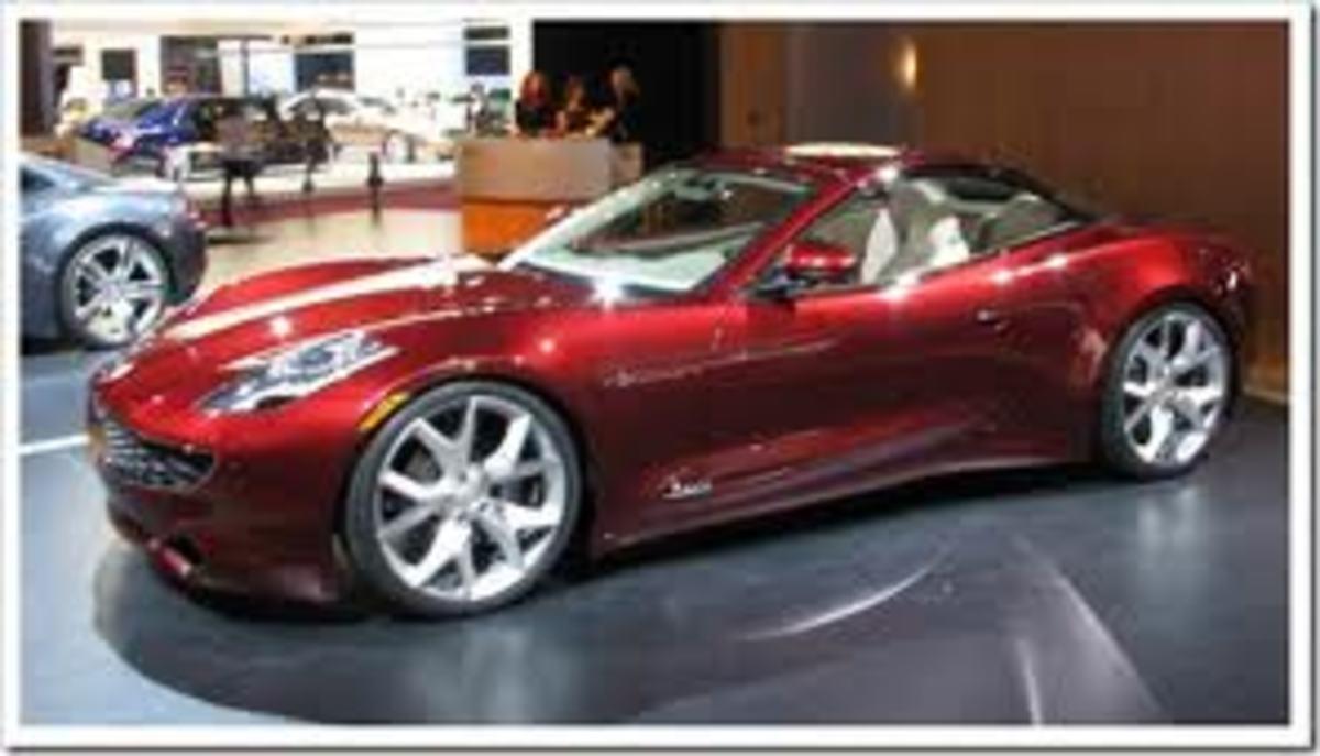 Metallic red KARMA convertible