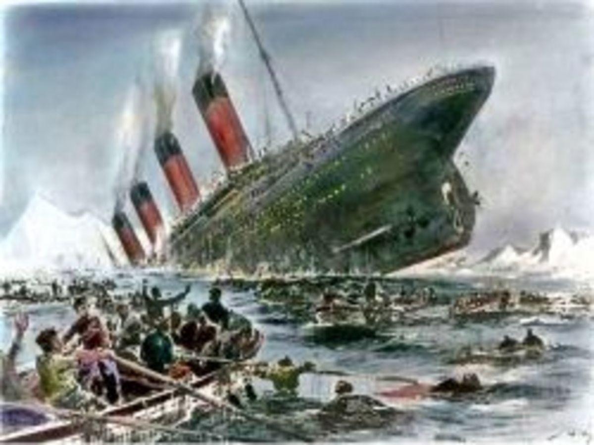Titanic sinking, Willie Stower. This work is in the public domain in the United States because it was published (or registered with the U.S. Copyright Office) before January 1, 1923.