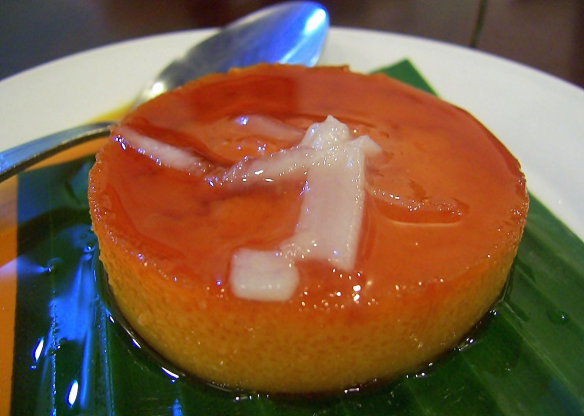 Leche Flan with Macapuno, a Heavenly Philippine Dessert