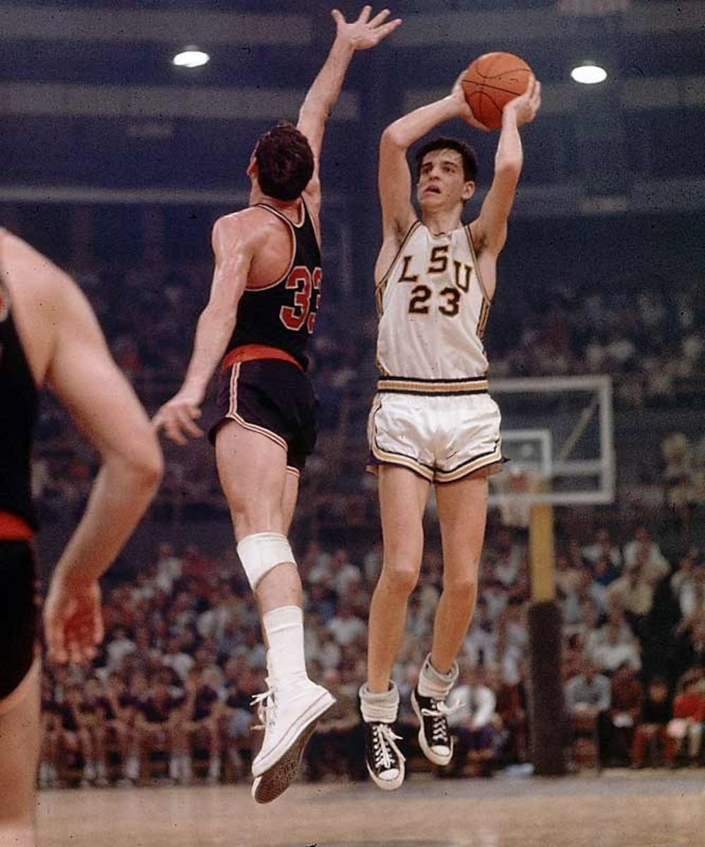 A mop of hair, floppy socks and triple teamed every game! He still is far and away the highest scorer in college basketball history.  Pete Maravich wanted to be the best person he could possibly be.