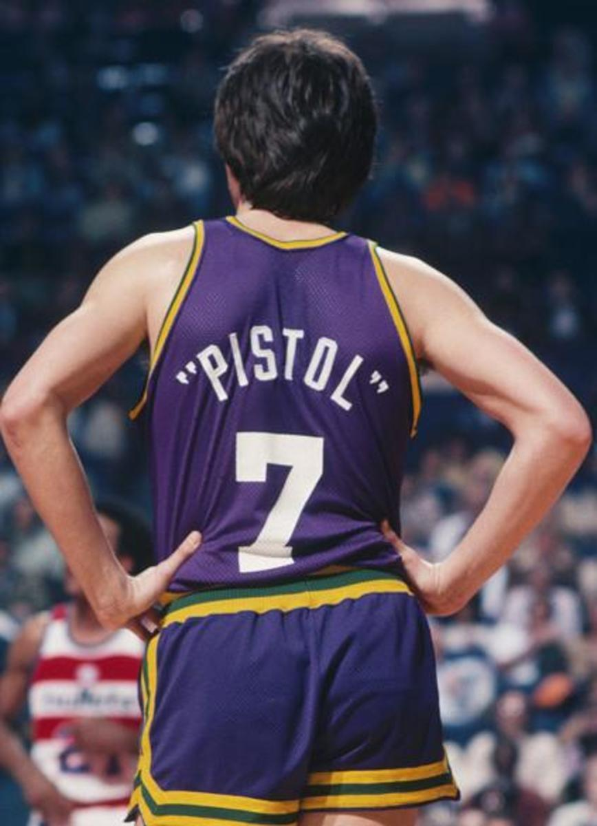 Only Pete could have his nickname on his NBA jersey. A rarity for the league.
