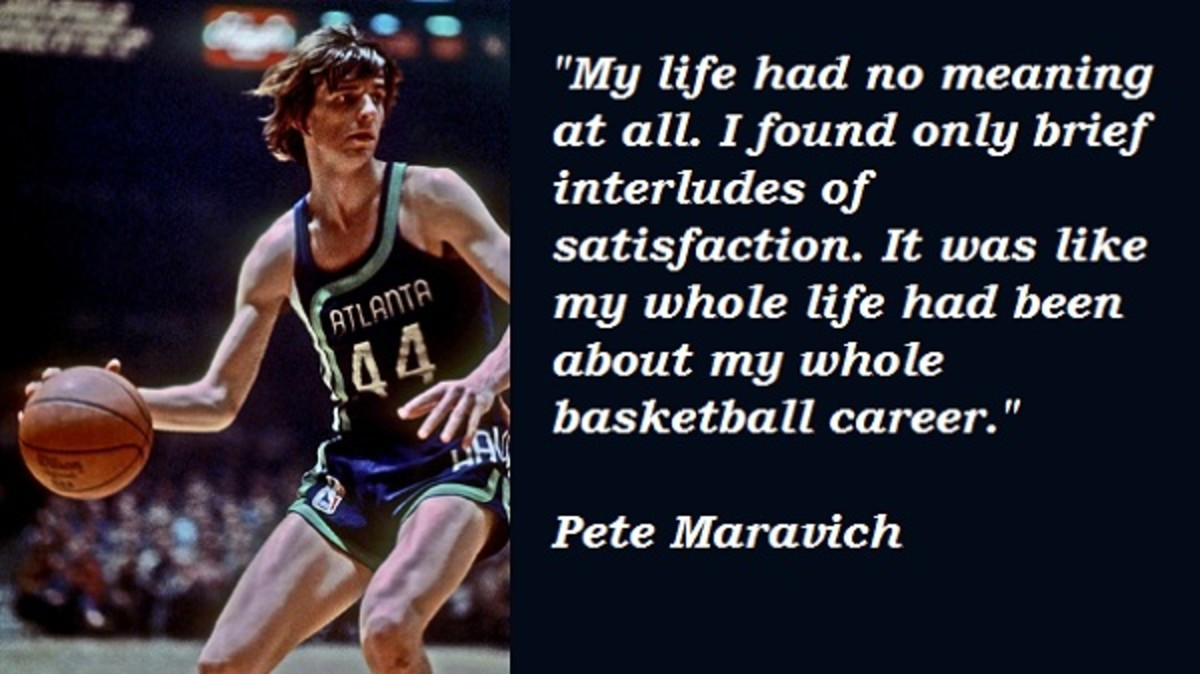 Pete knew there was more to life than just basketball and searched for it when he retired from the game.