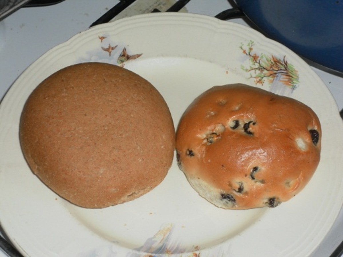 In Lancashire, if you want the item on the right ask for a currant teacake. If you ask for a teacake, you'll get the item on the left