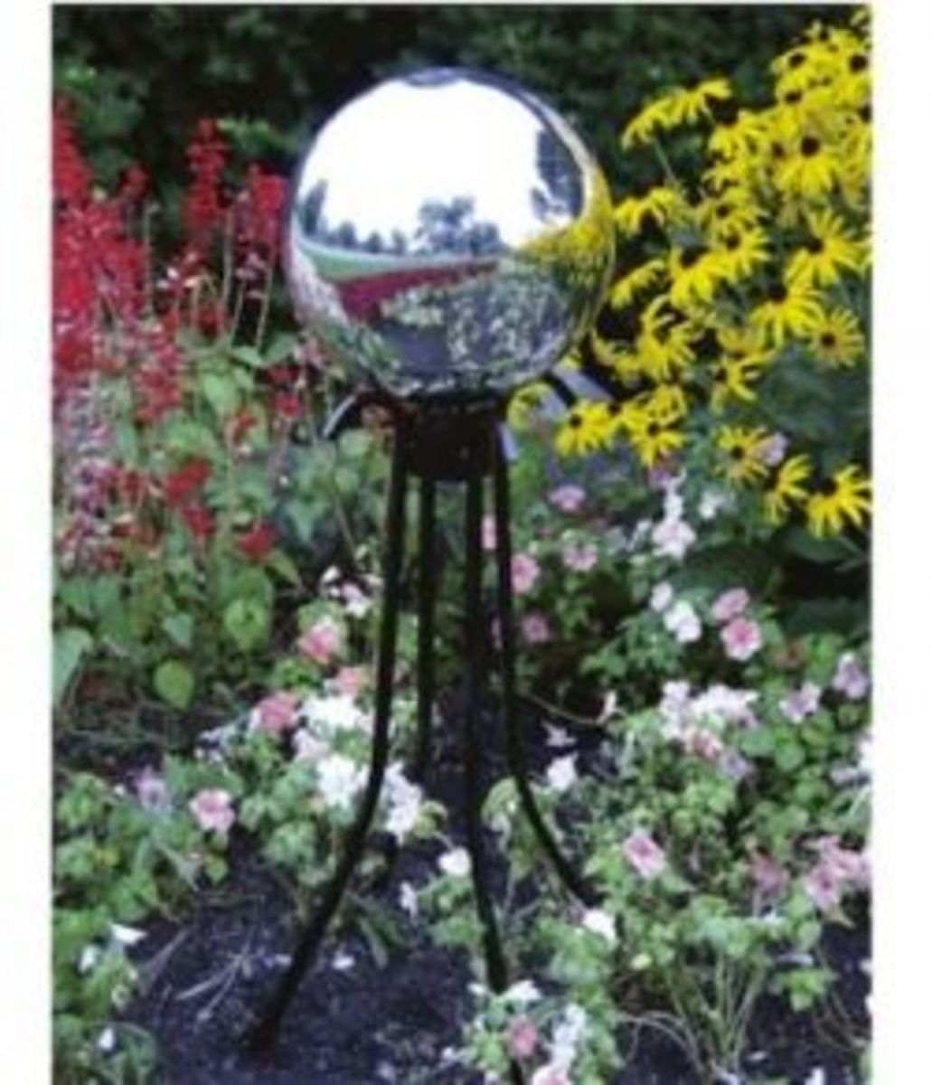 Globe and stand in Garden Setting