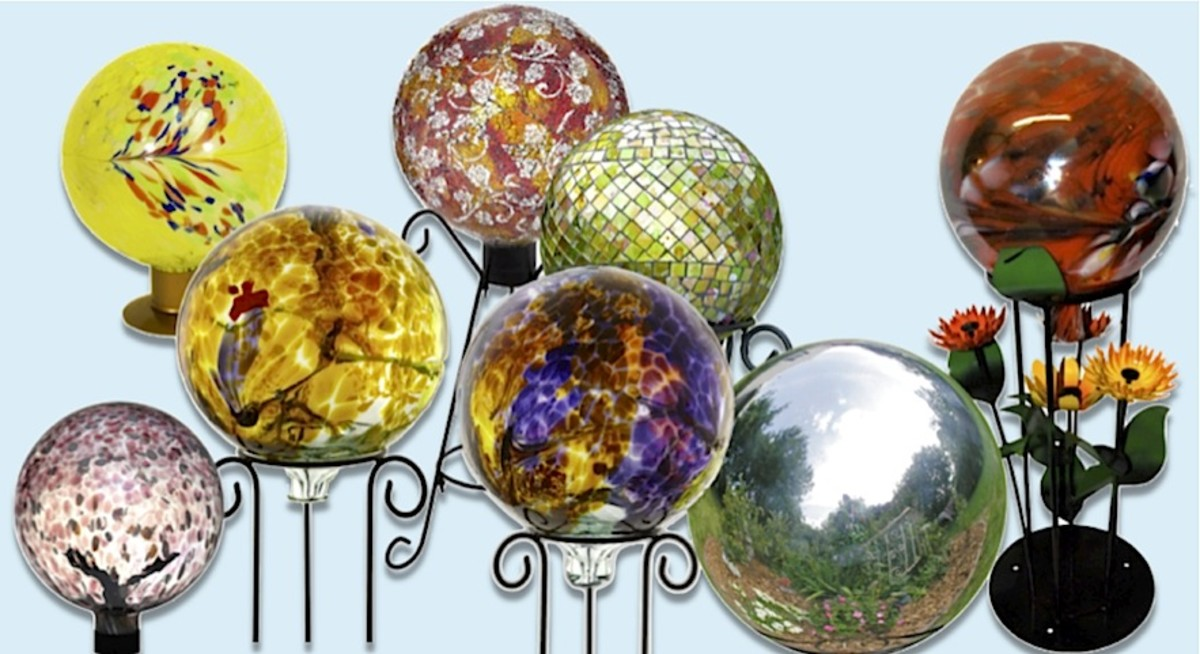 Before you move on, we just couldn't resist sharing a few more of our favorite gazing globes for the garden with you. It was just too hard to pick just a few! You'll find these and more at the Amazon link below if you'd like to check them out.