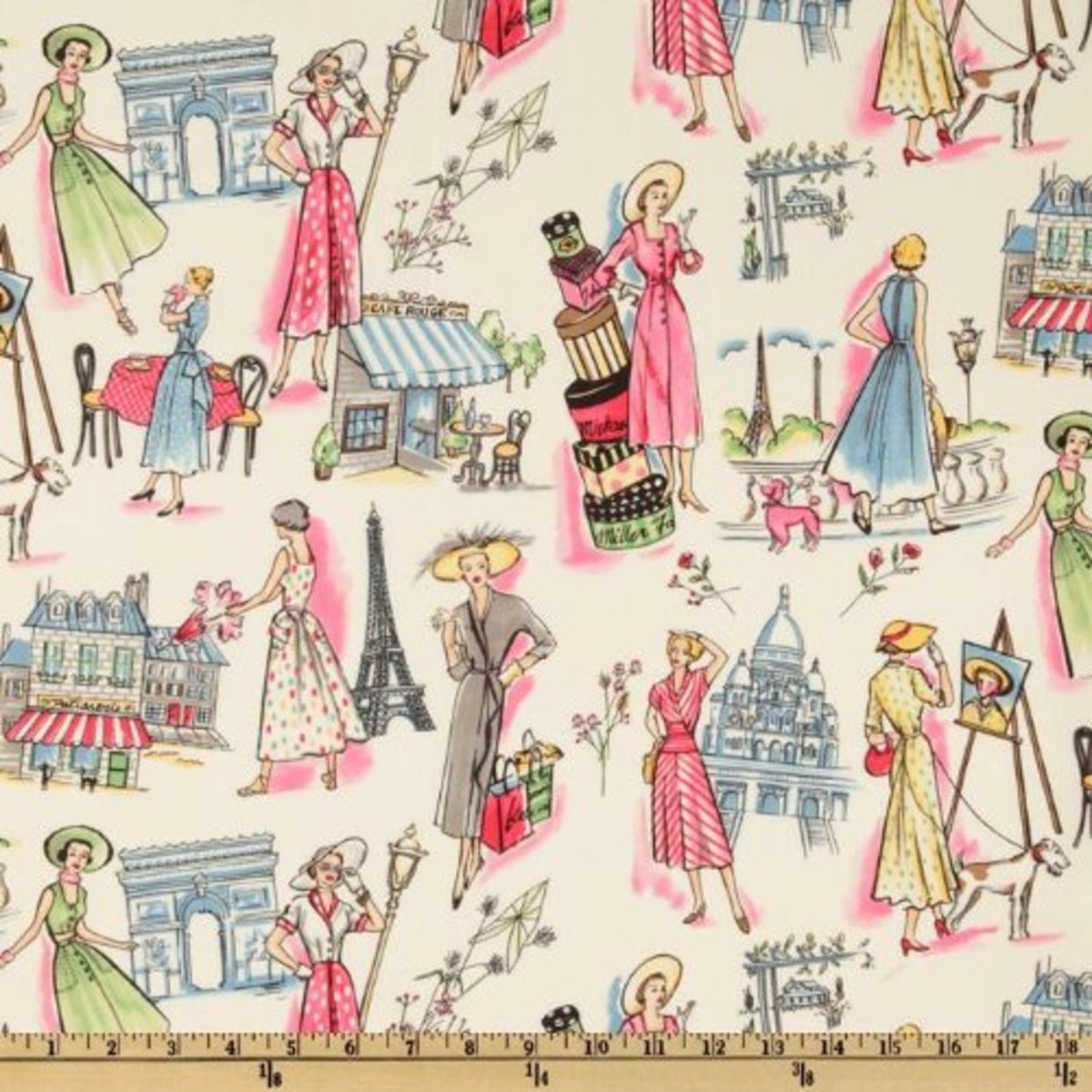 This Springtime in Paris fabric is reminiscent of a vintage issue of Vogue