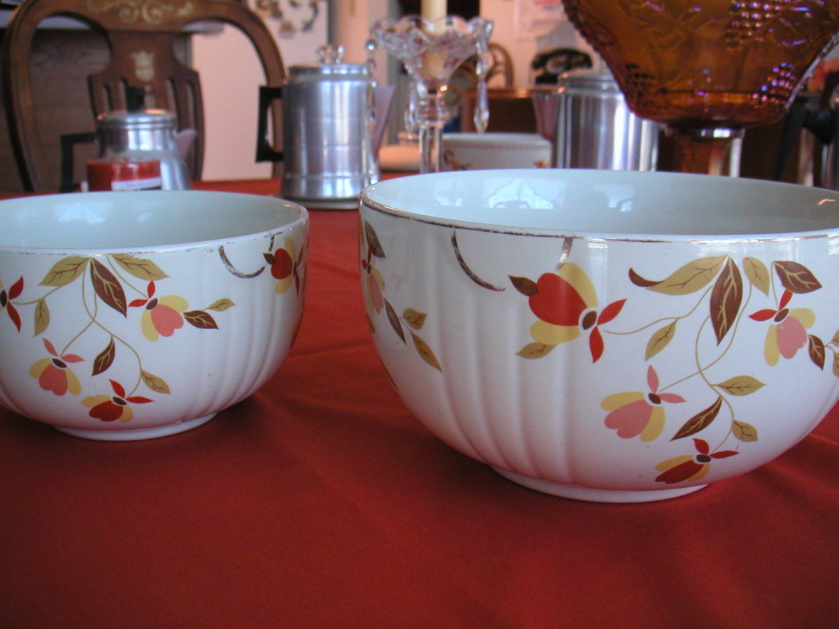Jewel Tea or Autumn Leaf pattern was sold in the dime stores during the seventies.
