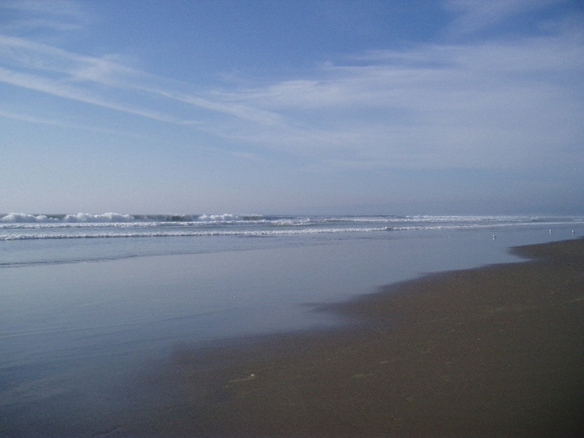 Example of a Flat Beach
