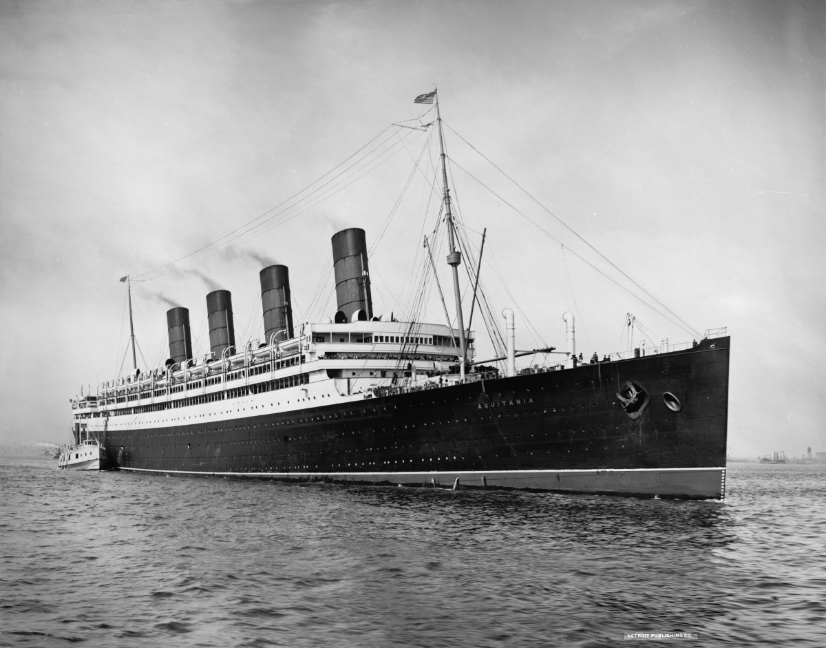 RMS Aquitania, Britain's Largest Liner by 1913.