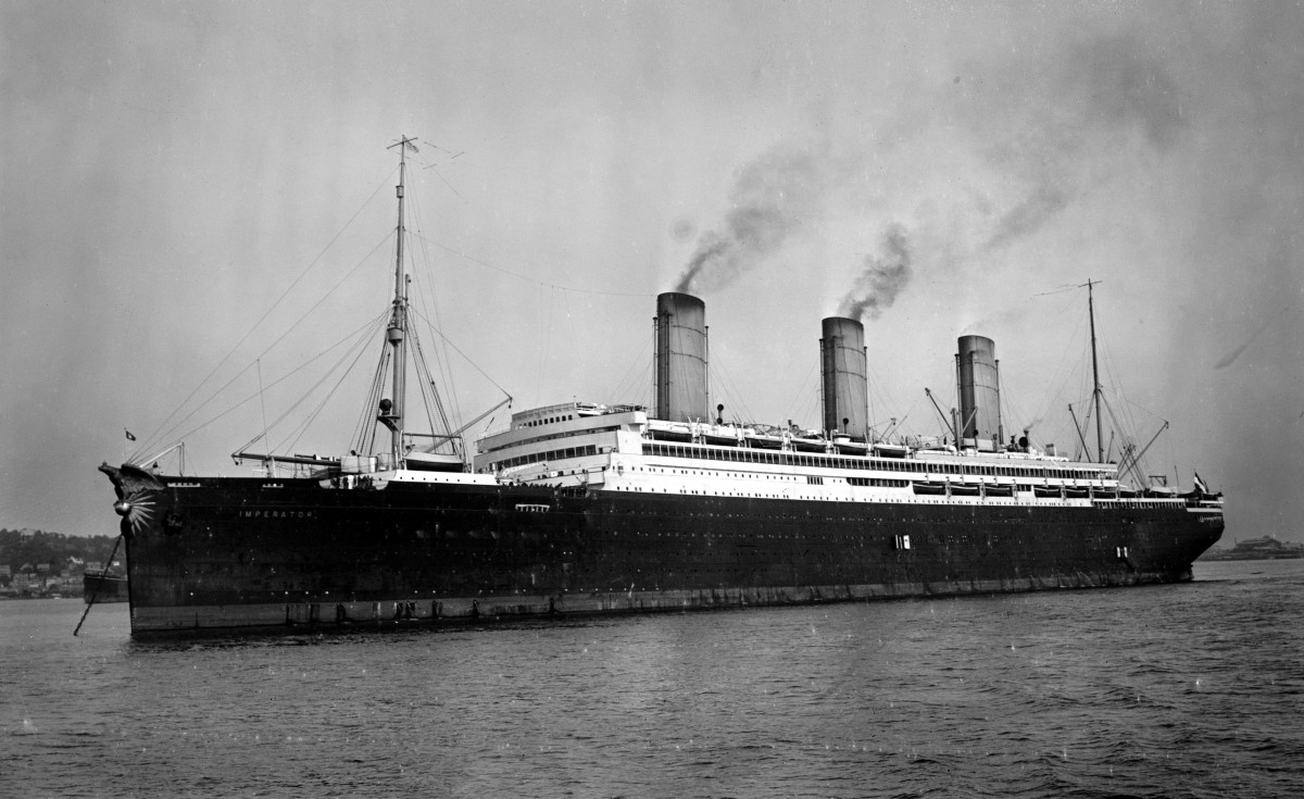 SS Imperator, World's Largest Liner by 1913.