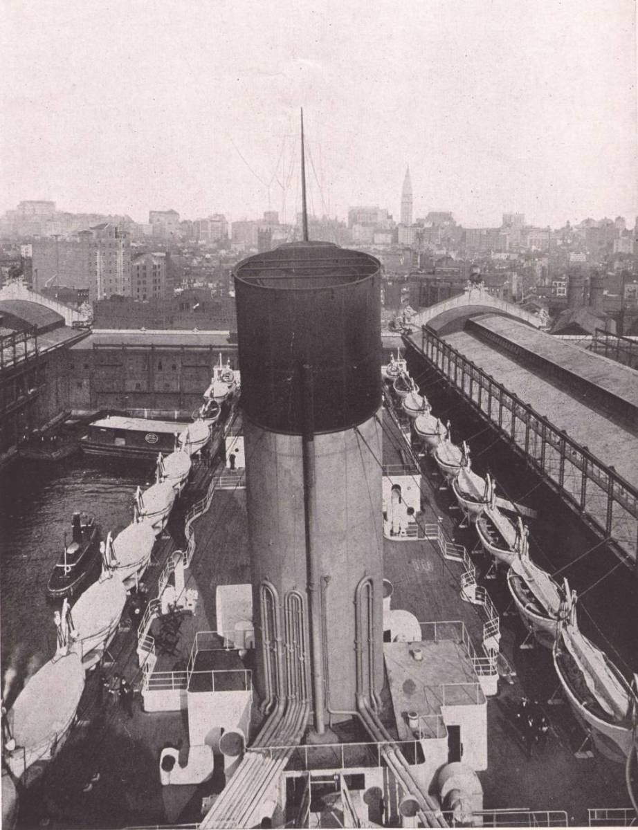 From atop Funnel No. 4, the dummy funnel.