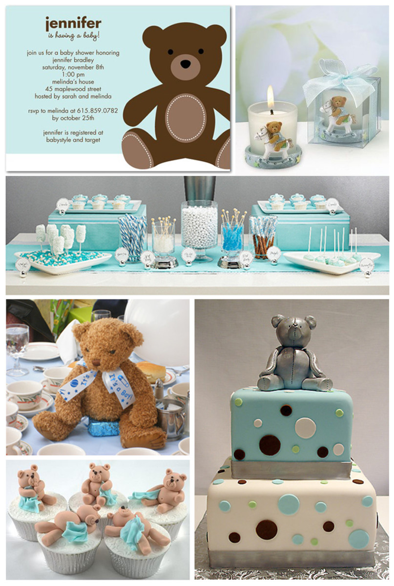 Blue Teddy Bear Baby Shower Inspiration