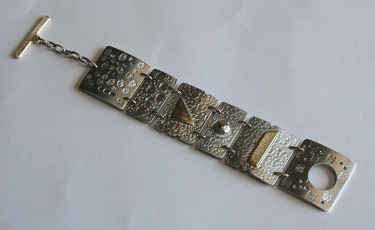 My favourite: aluminium and brass plate bracelet