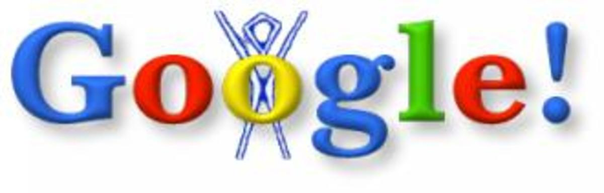 Sergey Brin's first Google doodle in 1998 about his trip to the Burning Man festival!