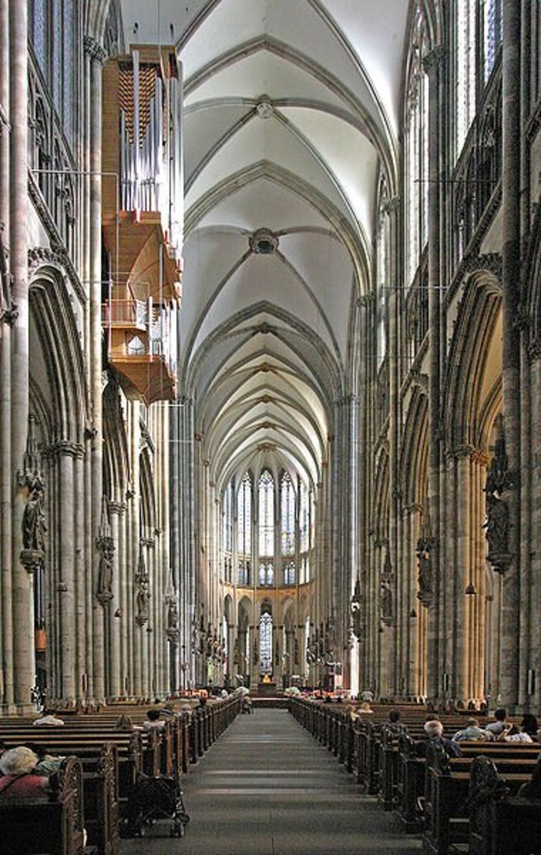 Nave of the Cologne, Germany cathedral.