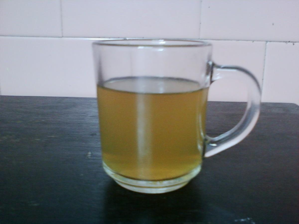 Rose stem tea