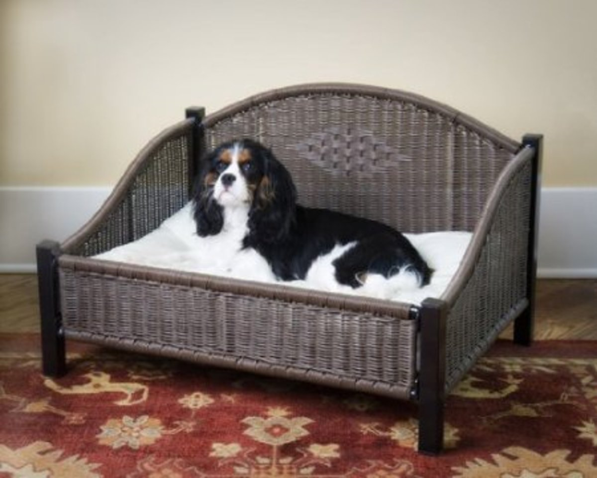 Brown Wicker Dog Sofa Bed