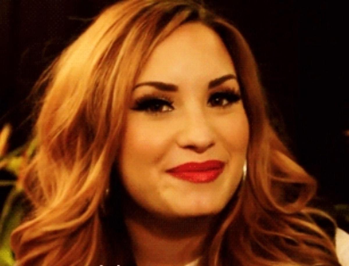 Demi Lovato with Reddish Blonde Hair