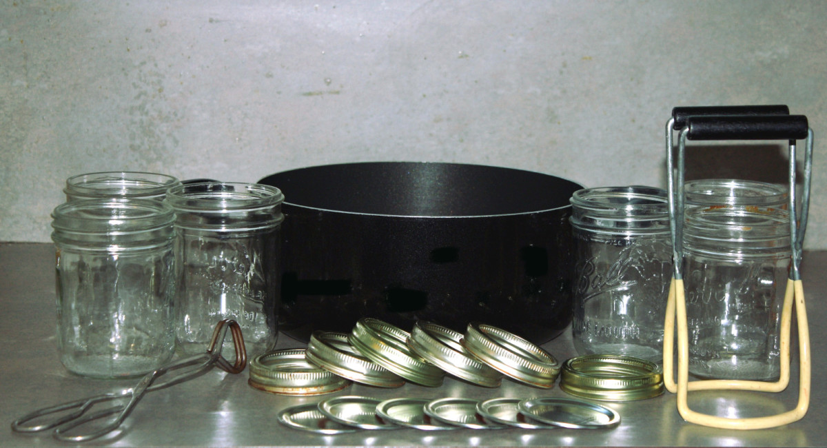 Canning supplies.
