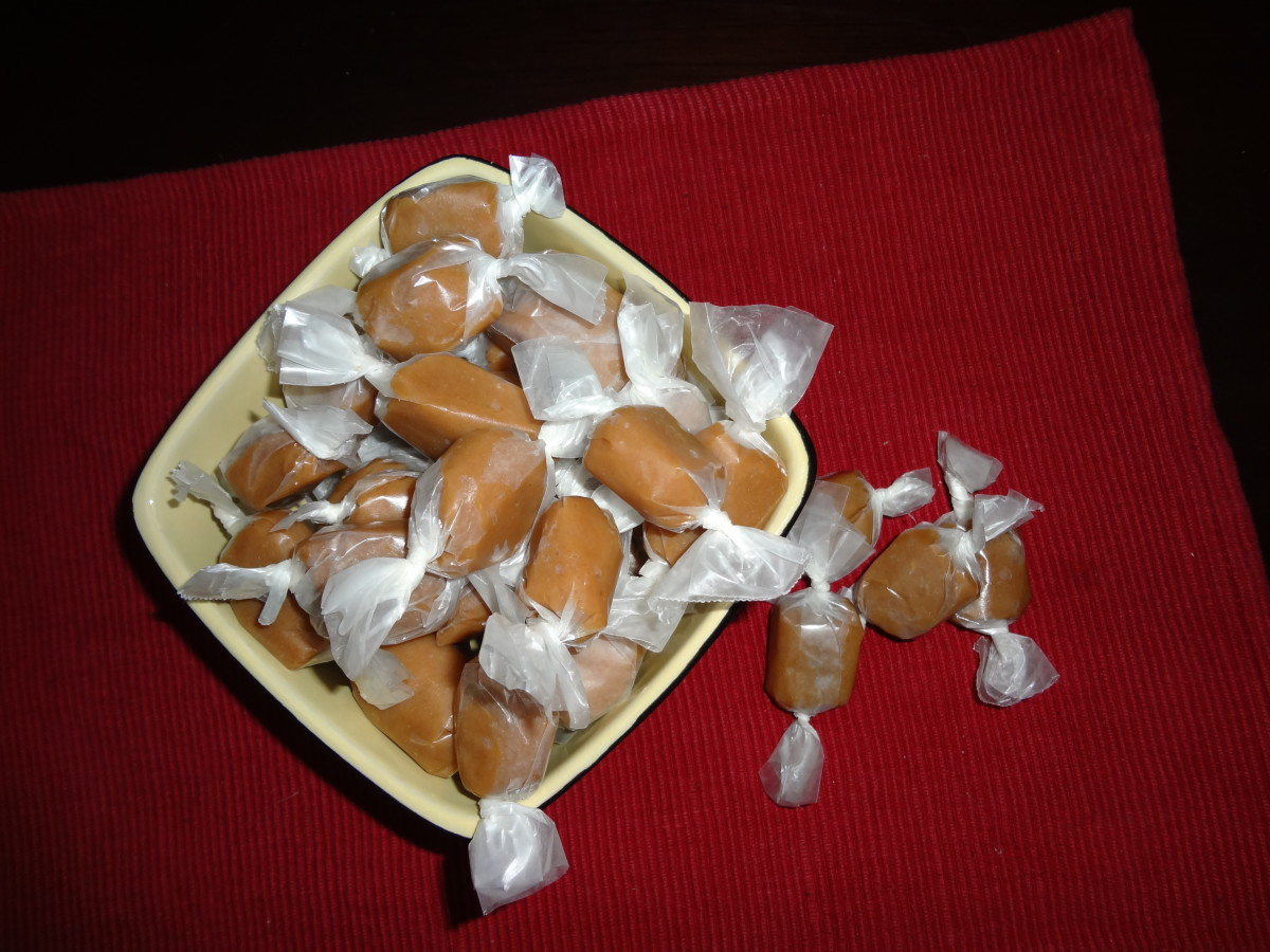 Homemade Butter Caramels with Himalayan Pink Salt