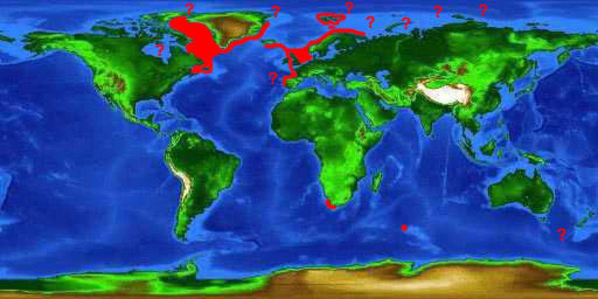 Greenland shark distribution map worldwide