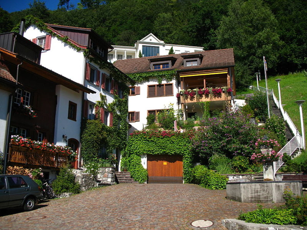 This photograph of Mitteldorf at Altenbach Street in Vaduz, the capital of Liechtenstein, was taken by Andrew Bossi on July 13, 2007.