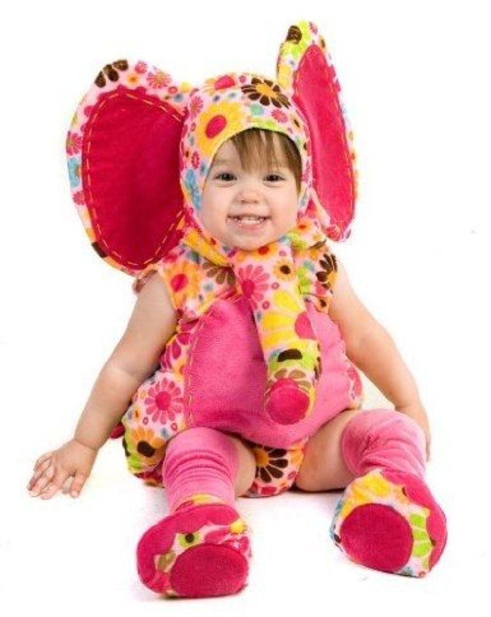 Princess Paradise Pink Baby Girl Elephant Costume