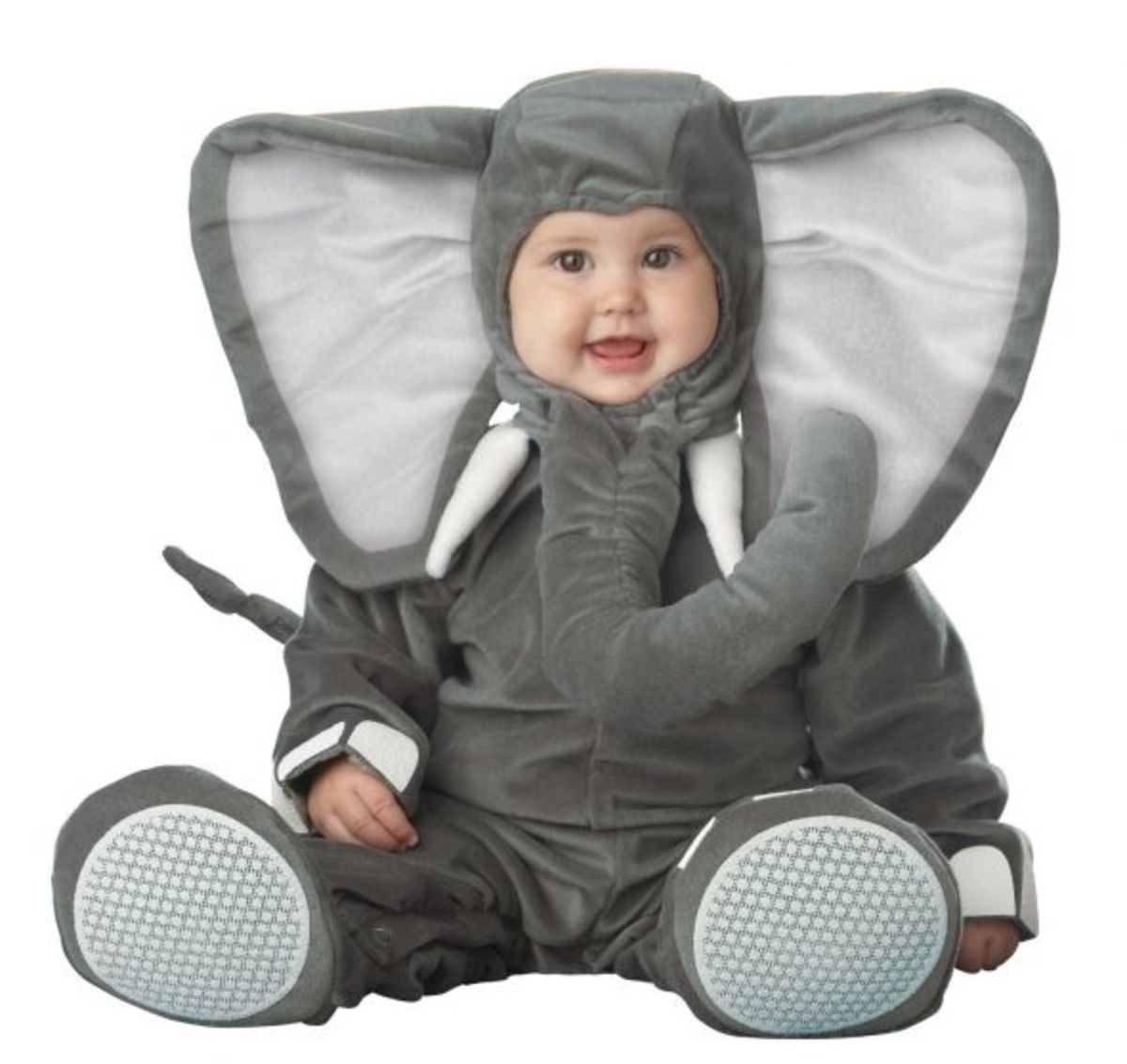 Lil Characters Infant Elephant Costume, Dark Grey/Light Grey