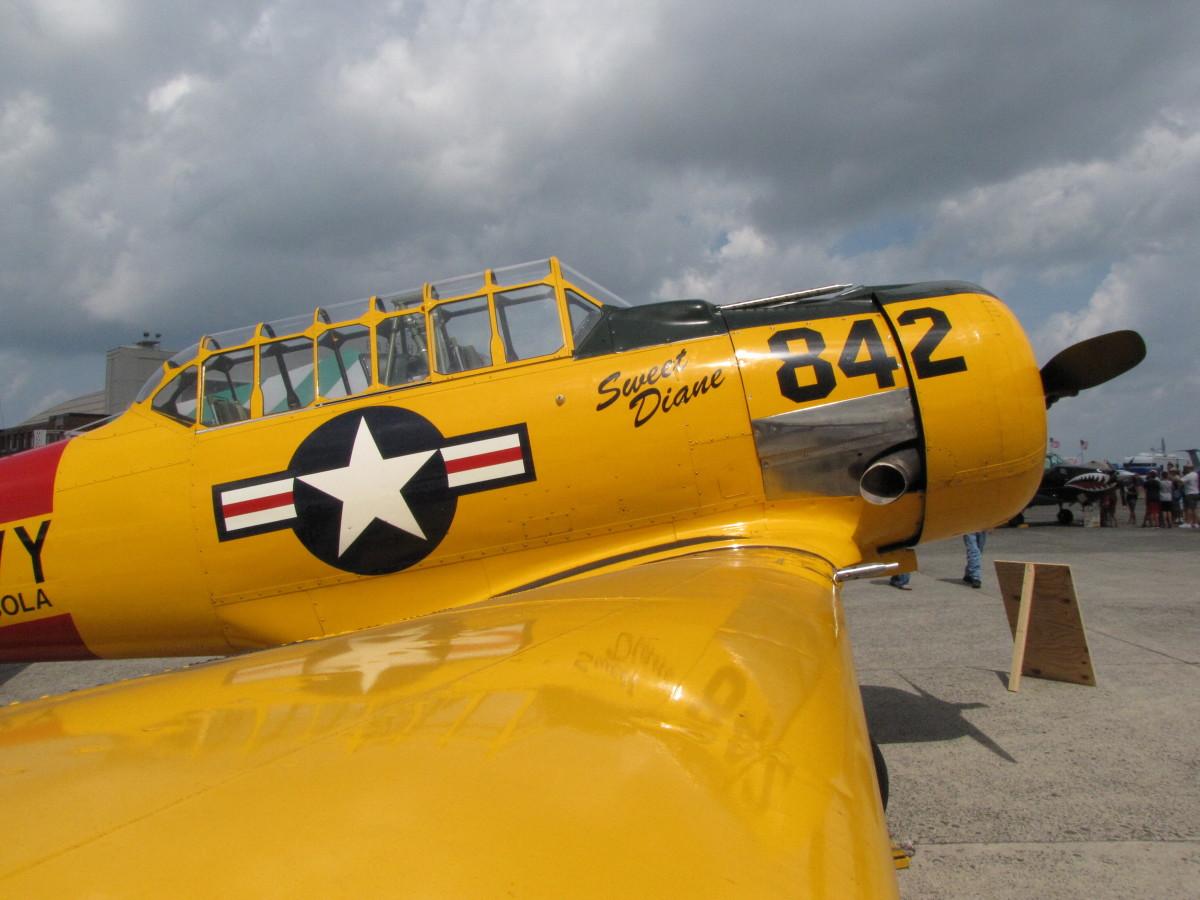 T-6 Texan WW II vintage trainer