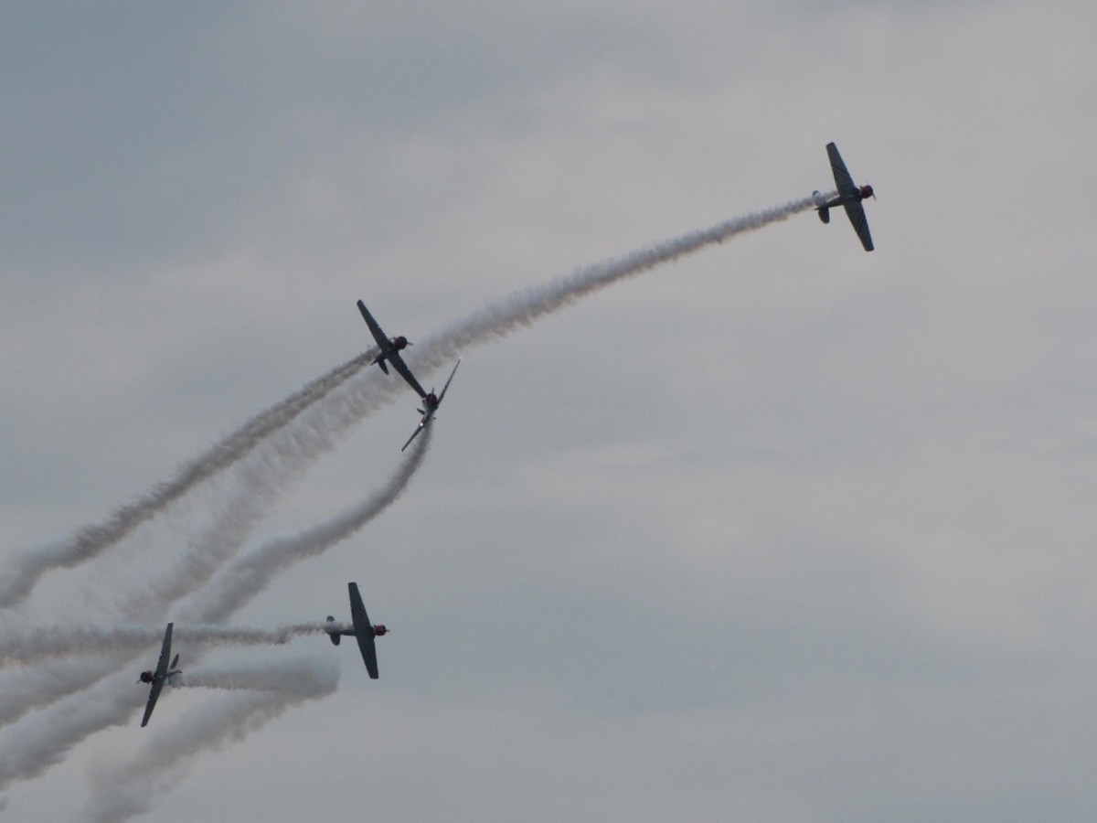 Geico Skytypers in action