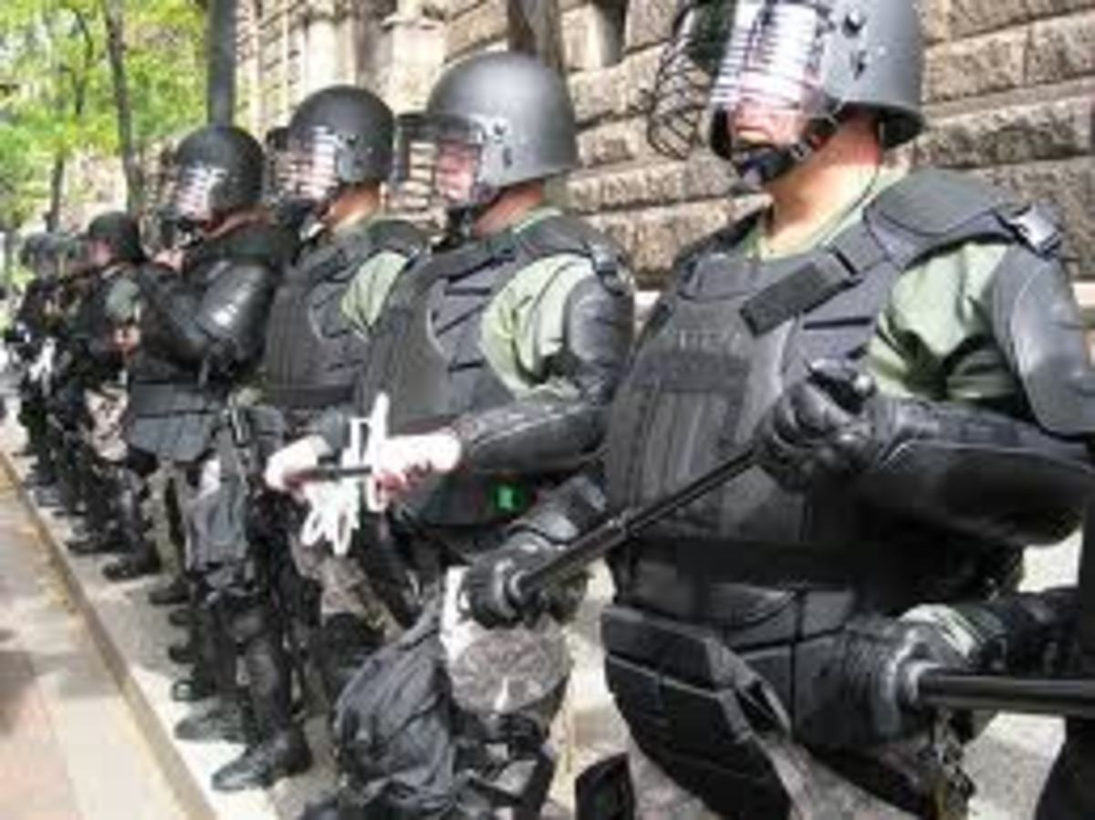 The Peace Officers that once protected the people are now fully initiated to protect their corporate masters!