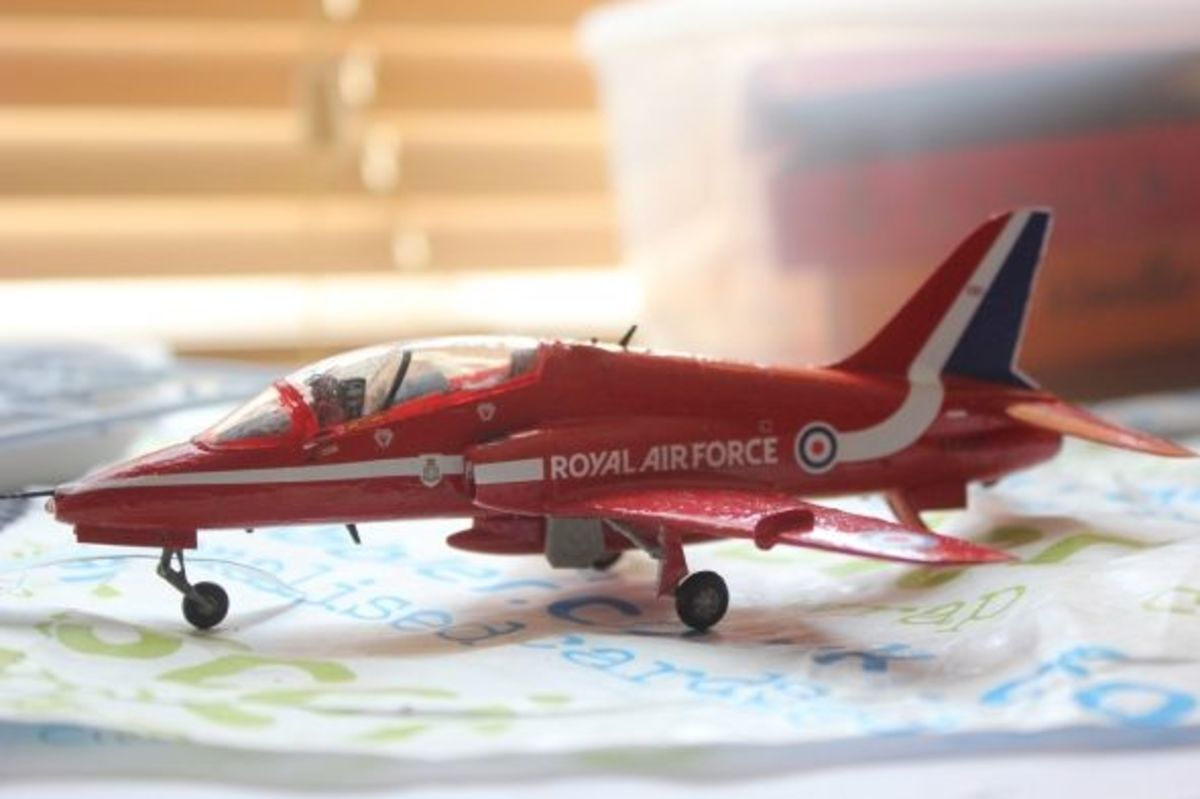 Airfix Red Arrow BAE Hawk Kit Completed A02005