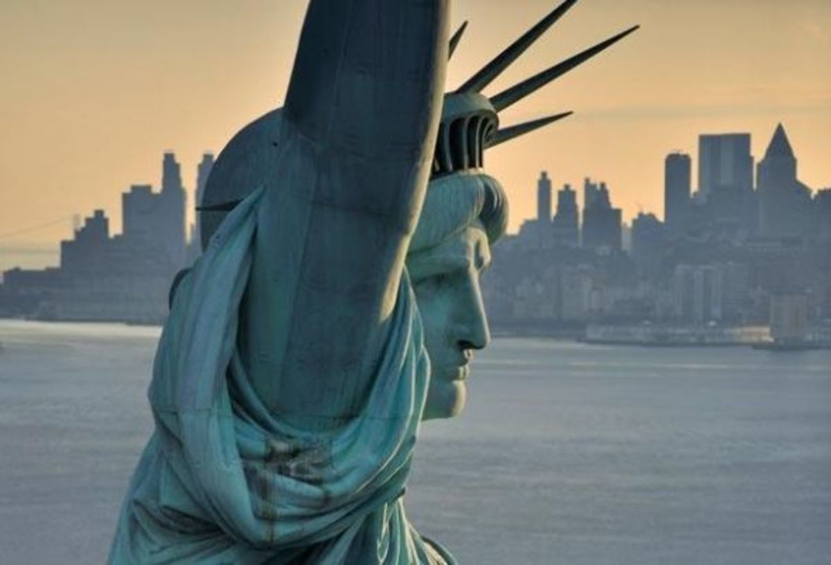 The Statue of Liberty image credit: http://www.history.com/topics/statue-of-liberty