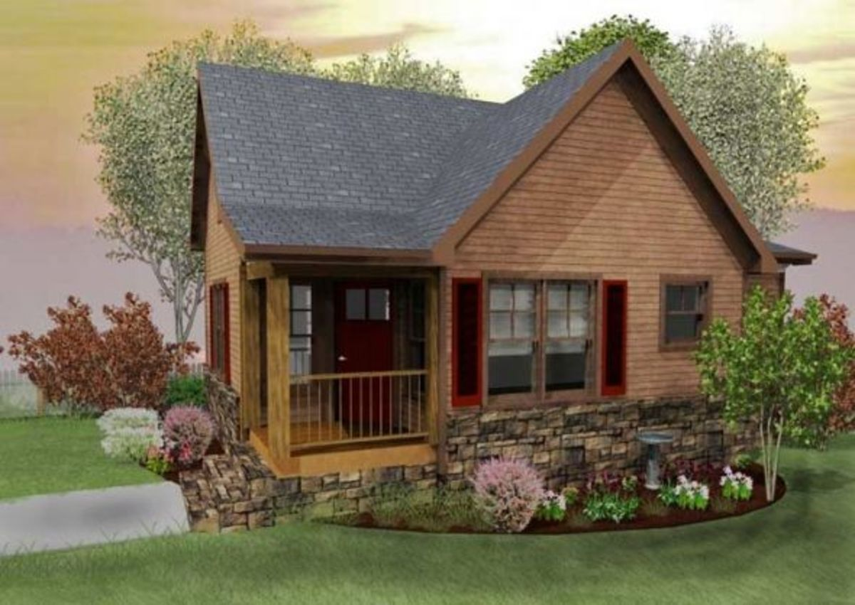 small rustic cabin house plan